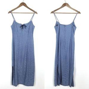Vintage 90's Midi Length Lace Up Dress